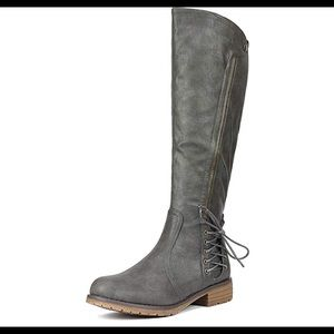 0523 Women's Side Zipper Knee High Riding Boots